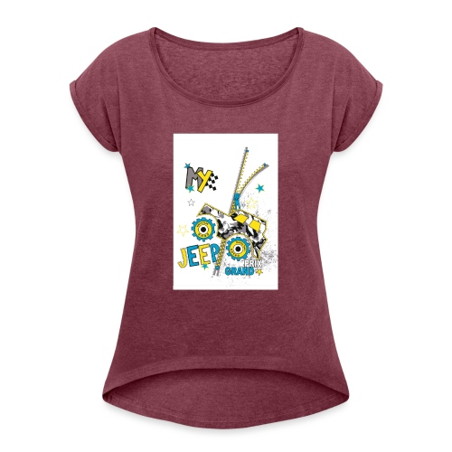 fashioned one - Women's T-Shirt with rolled up sleeves