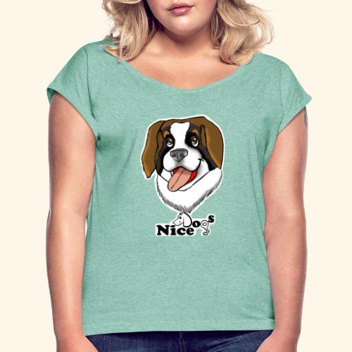 Nice Dogs san bernardo - Maglietta da donna con risvolti