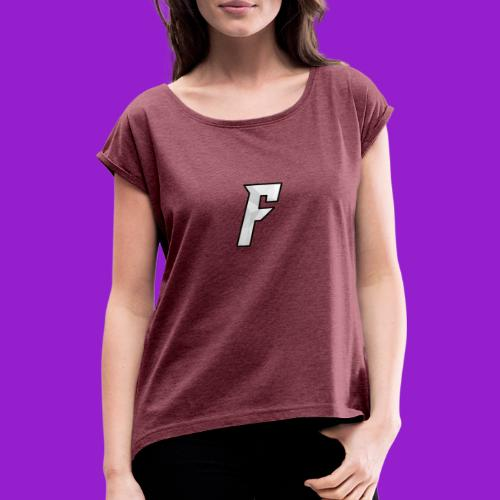 FurnaceGenerator Logo - Women's T-Shirt with rolled up sleeves