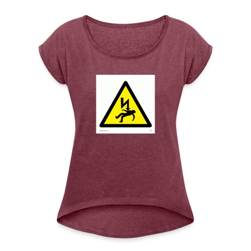 old drasticg logo - Women's T-Shirt with rolled up sleeves
