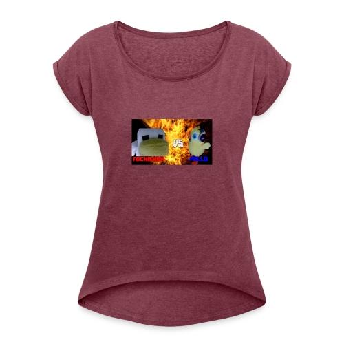 TGCHICKEN VS POLLO - Maglietta da donna con risvolti