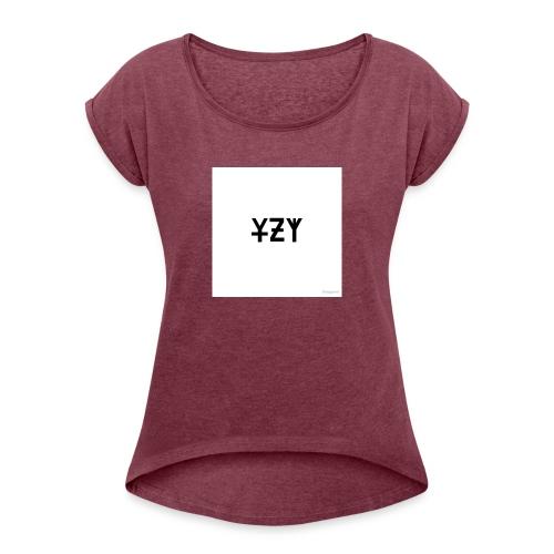 SHIRTS - Dame T-shirt med rulleærmer