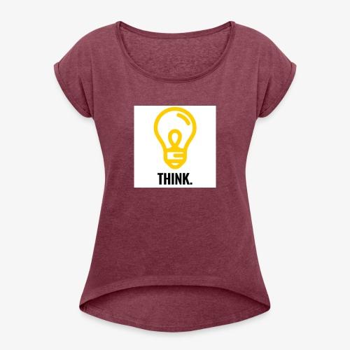 THINK - Maglietta da donna con risvolti