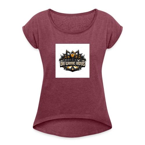 da game boys - Vrouwen T-shirt met opgerolde mouwen