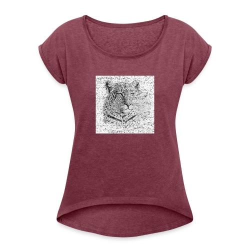 Tiger (Raubtier) - Frauen T-Shirt mit gerollten Ärmeln