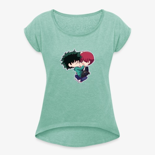 tododeku by dark cruel place - Women's T-Shirt with rolled up sleeves
