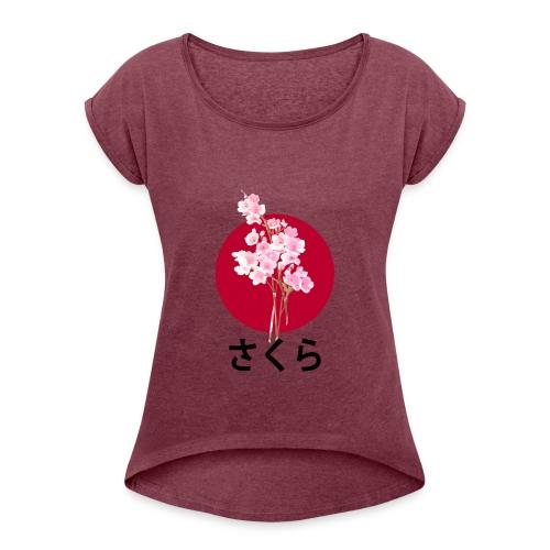 Sakura - Flower - Japan - T-shirt à manches retroussées Femme