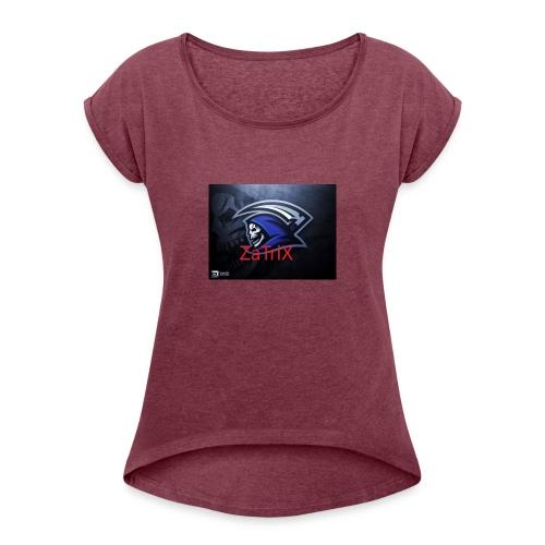 ZaTriX_Merch - T-skjorte med rulleermer for kvinner