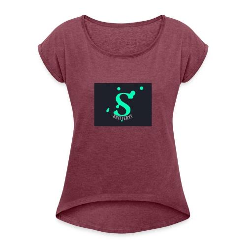 skitterYT - T-shirt med upprullade ärmar dam