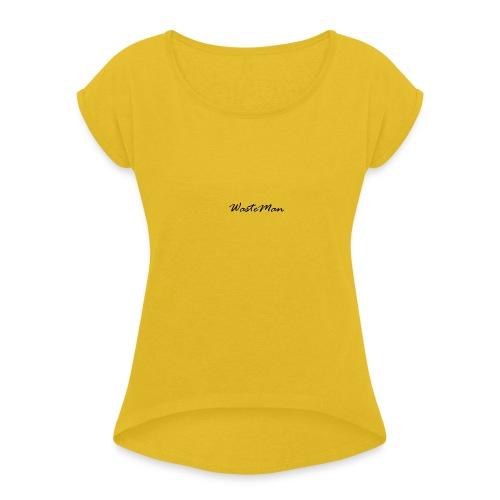 WM - Naisten T-paita, jossa rullatut hihat