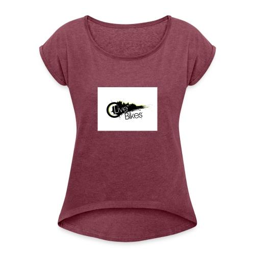 fahr oder stirb logo - Frauen T-Shirt mit gerollten Ärmeln
