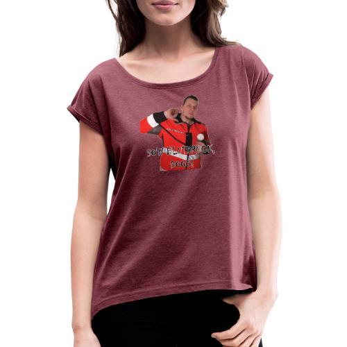 Sievi mit RR-Manschette SO'N BLUTDRUCK, DOOO! - Frauen T-Shirt mit gerollten Ärmeln