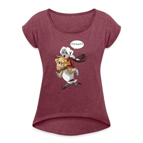 Soif d'Aventures. - T-shirt à manches retroussées Femme