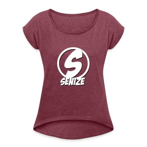 Senize voor vrouwen - Vrouwen T-shirt met opgerolde mouwen