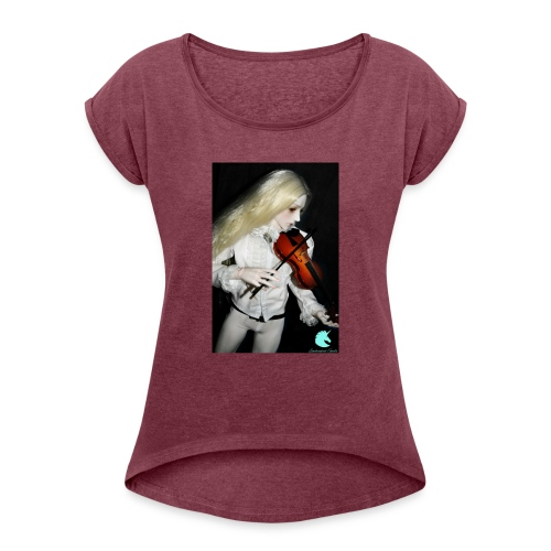 Vampire Violin Gothic Music Fantasy Enchanted - Women's T-Shirt with rolled up sleeves