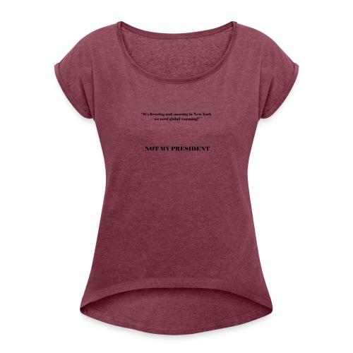 NotMyPresident_4 - Maglietta da donna con risvolti