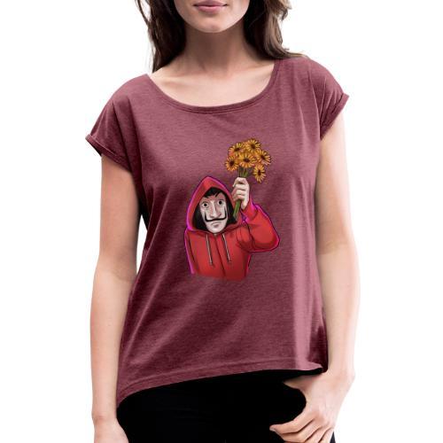 Graz   La Casa del Grazel - Frauen T-Shirt mit gerollten Ärmeln