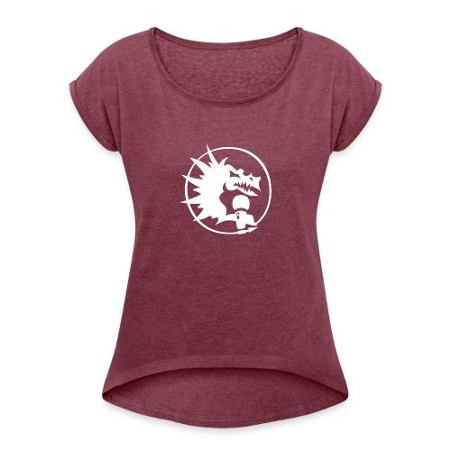 MRTL WEAR - Naisten T-paita, jossa rullatut hihat