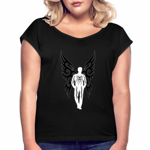 hombre marcado por la vida - Camiseta con manga enrollada mujer