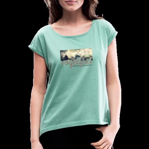 geweihbär Vogelfrei 3 - Frauen T-Shirt mit gerollten Ärmeln