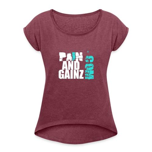 painandgainz2 - Maglietta da donna con risvolti