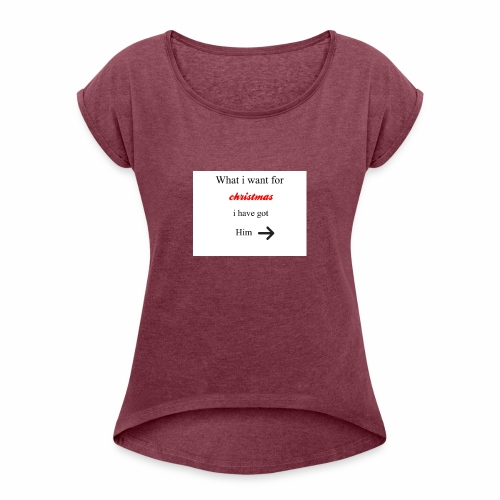 christmas - Women's T-Shirt with rolled up sleeves