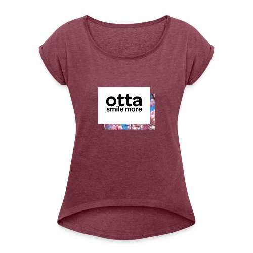 Otta English Floral - Women's T-Shirt with rolled up sleeves