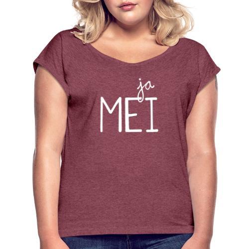 jaMei - Frauen T-Shirt mit gerollten Ärmeln