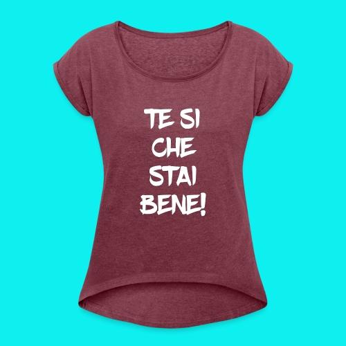 tesiokok - Maglietta da donna con risvolti
