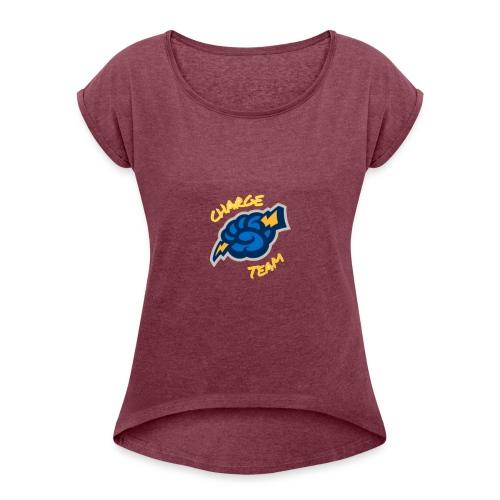 CHARGE TEAM LOGO - Maglietta da donna con risvolti