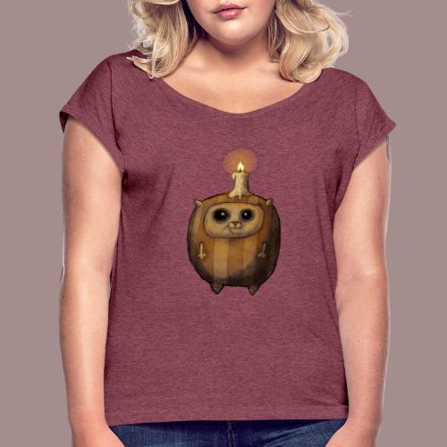 Kugelkatz - Frauen T-Shirt mit gerollten Ärmeln
