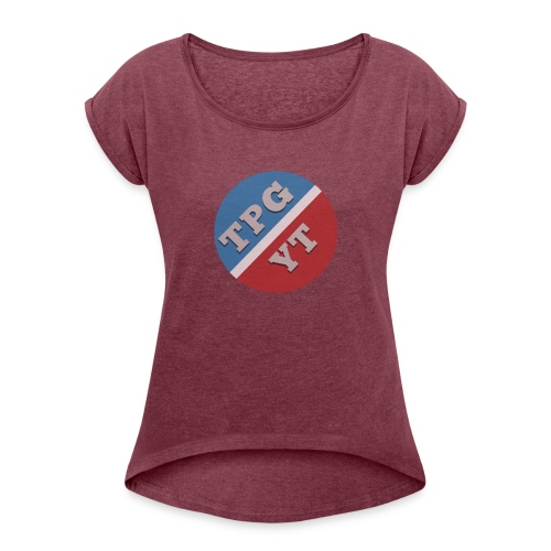 The Official TPG Cap - Women's T-Shirt with rolled up sleeves