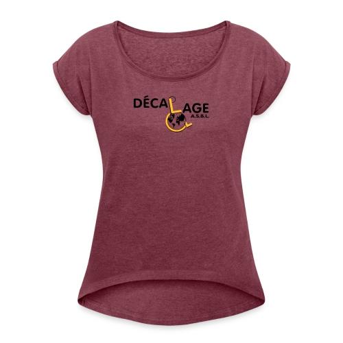 Logo vectoriel grand - T-shirt à manches retroussées Femme