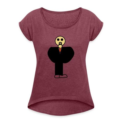 maneke - Vrouwen T-shirt met opgerolde mouwen