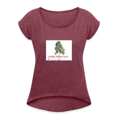 Förenings logga - T-shirt med upprullade ärmar dam