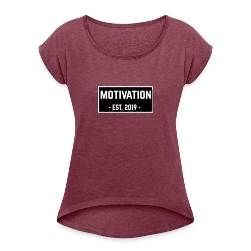 B0809754 7453 48A9 81DD 2758AAA4397D - Vrouwen T-shirt met opgerolde mouwen