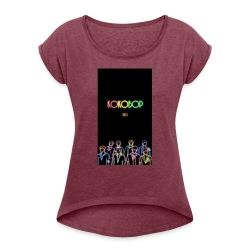 kokobop - T-shirt med upprullade ärmar dam