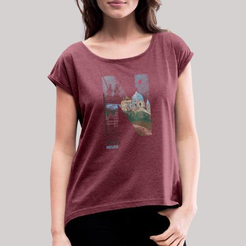 Immer wieder Neuss - Frauen T-Shirt mit gerollten Ärmeln