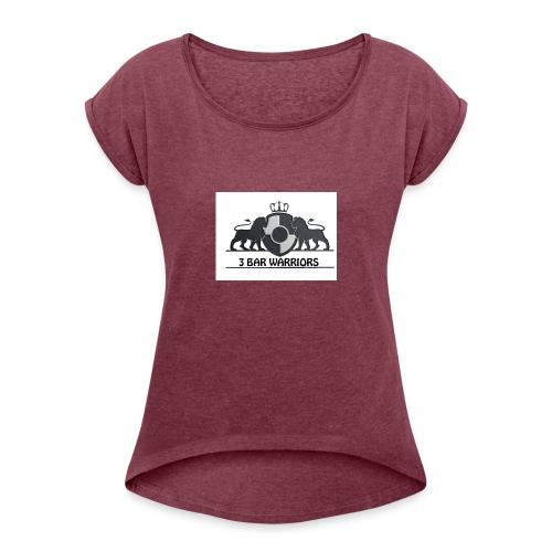 3BW Jersey - T-skjorte med rulleermer for kvinner