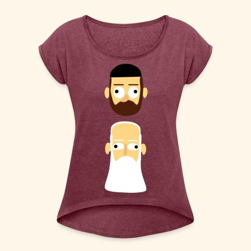 Stille Willem en Leipe Leo - Vrouwen T-shirt met opgerolde mouwen
