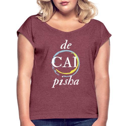 de CAI pisha - Camiseta con manga enrollada mujer
