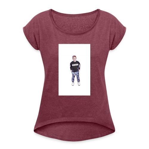 Silik Comic - Frauen T-Shirt mit gerollten Ärmeln