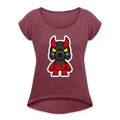 Oni black - Dame T-shirt med rulleærmer