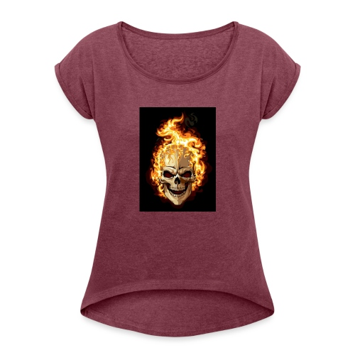 Men hood - Women's T-Shirt with rolled up sleeves