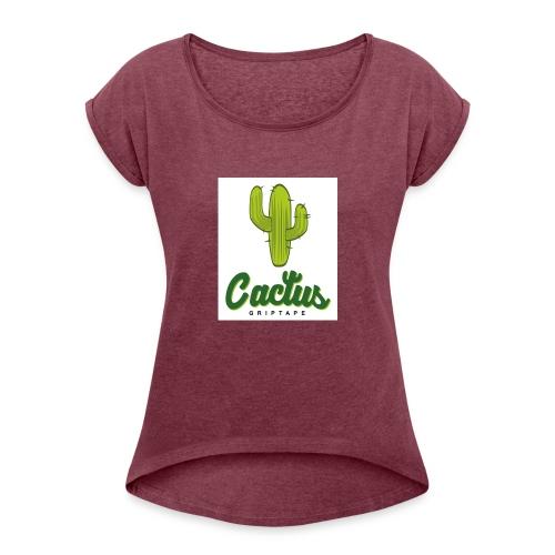 Cactus friptape - Camiseta con manga enrollada mujer