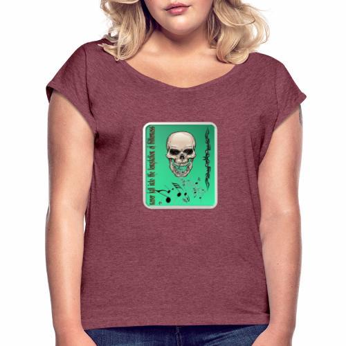 camisas unica - Camiseta con manga enrollada mujer