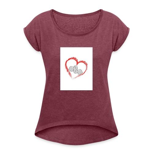AMOR AL GYM - Camiseta con manga enrollada mujer