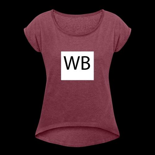 WB Logo - Frauen T-Shirt mit gerollten Ärmeln