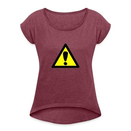 exclamacion - Camiseta con manga enrollada mujer