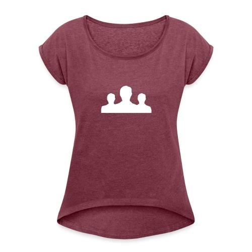 Ontmaskerd Shirt - Vrouwen T-shirt met opgerolde mouwen